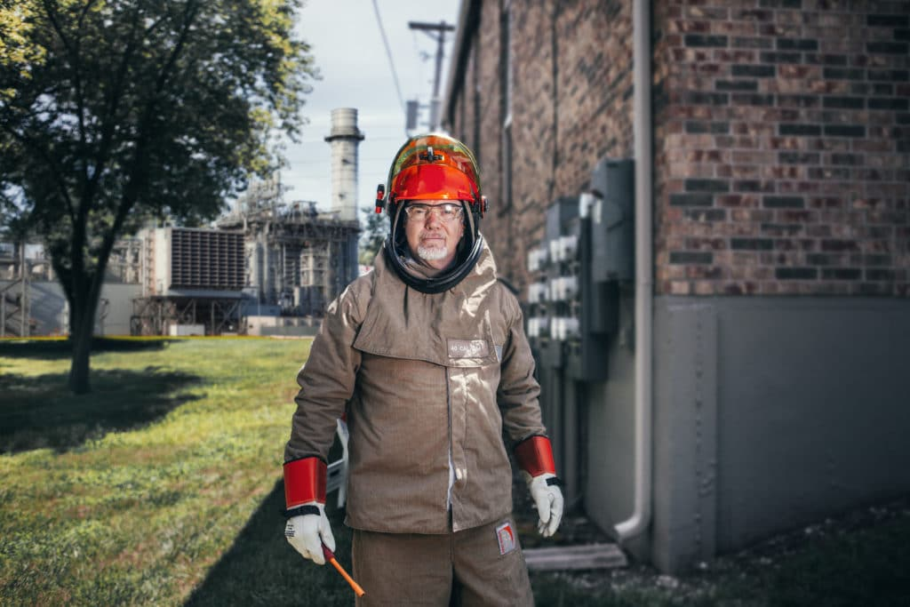 arc flash engineer posing