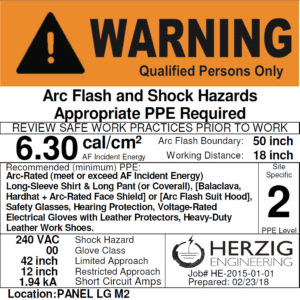 warning qualified persons only label