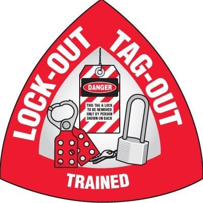 lock out and tag out trained logo